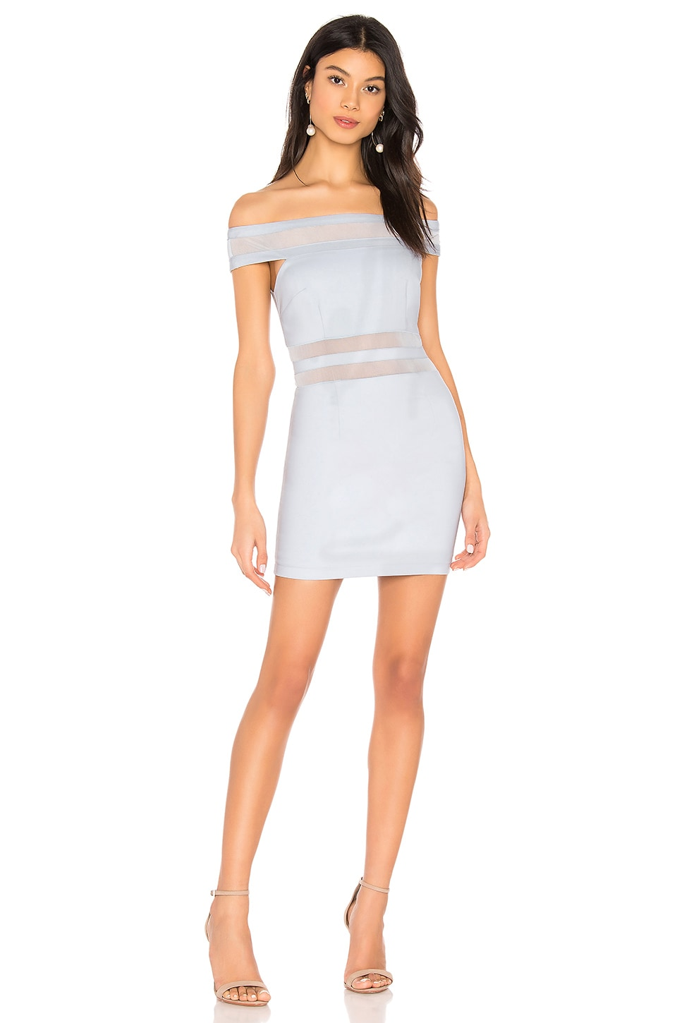 Meghan Mesh Stripe Dress