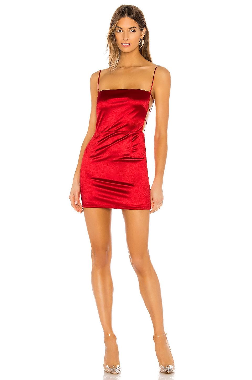 superdown Kait Cut Out Mini Dress in Cherry