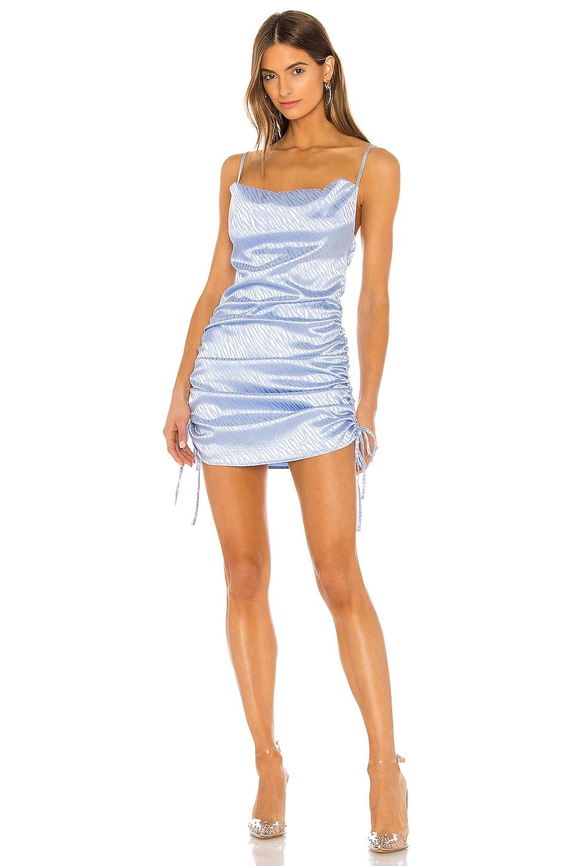 superdown Kimora Ruched Cami Dress in Light Blue