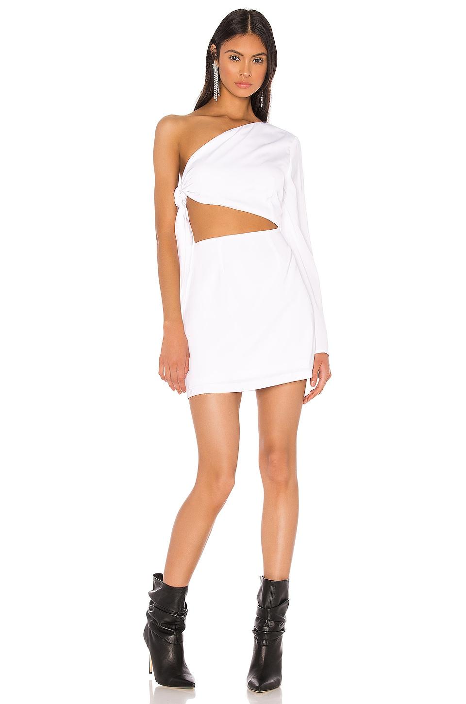 superdown x Draya Michele Essie One Shoulder Dress in White