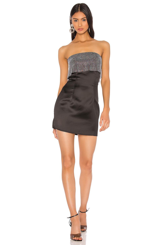 x Draya Michele Ezra Rhinestone Strapless Dress