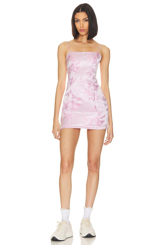 superdown x Draya Michele Letizia Printed Mini Dress in Pink Floral