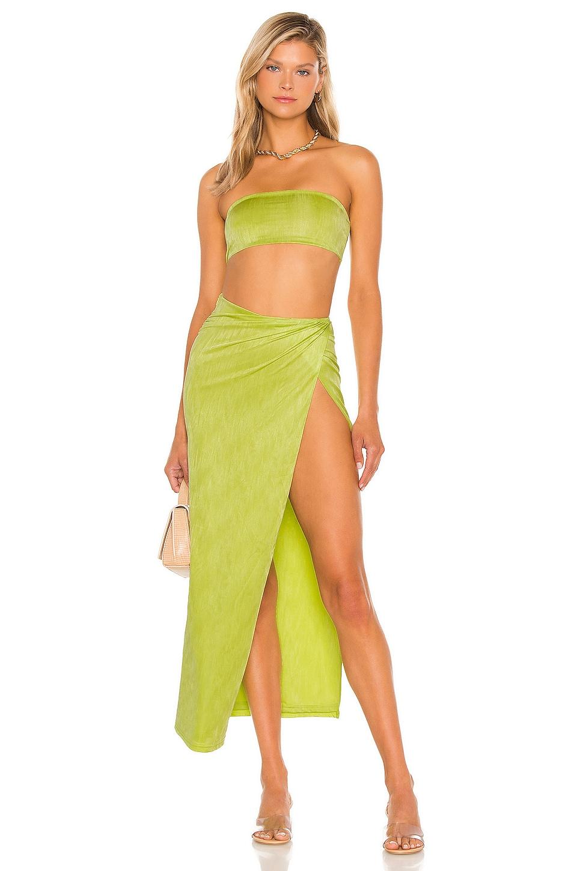 superdown Karolyna Maxi Skirt Set in Citron
