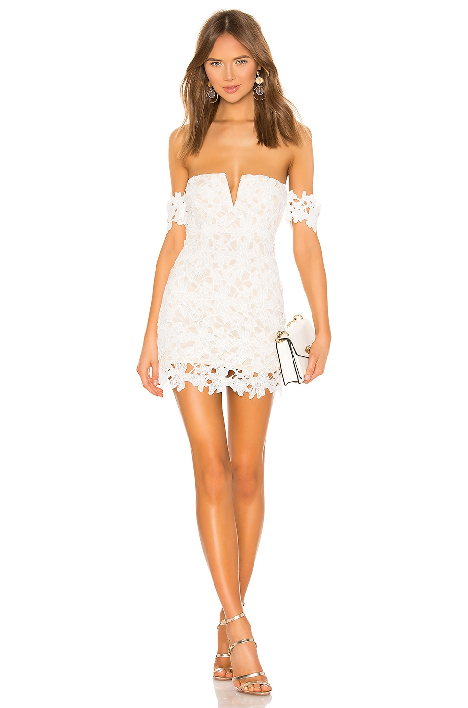 superdown Shannan Mini Dress in White
