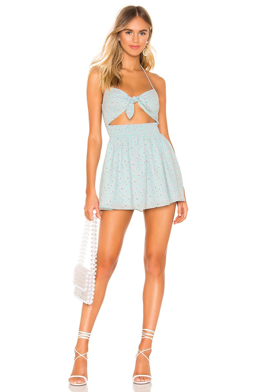 superdown Kaianna Tie Front Dress in Light Blue Floral