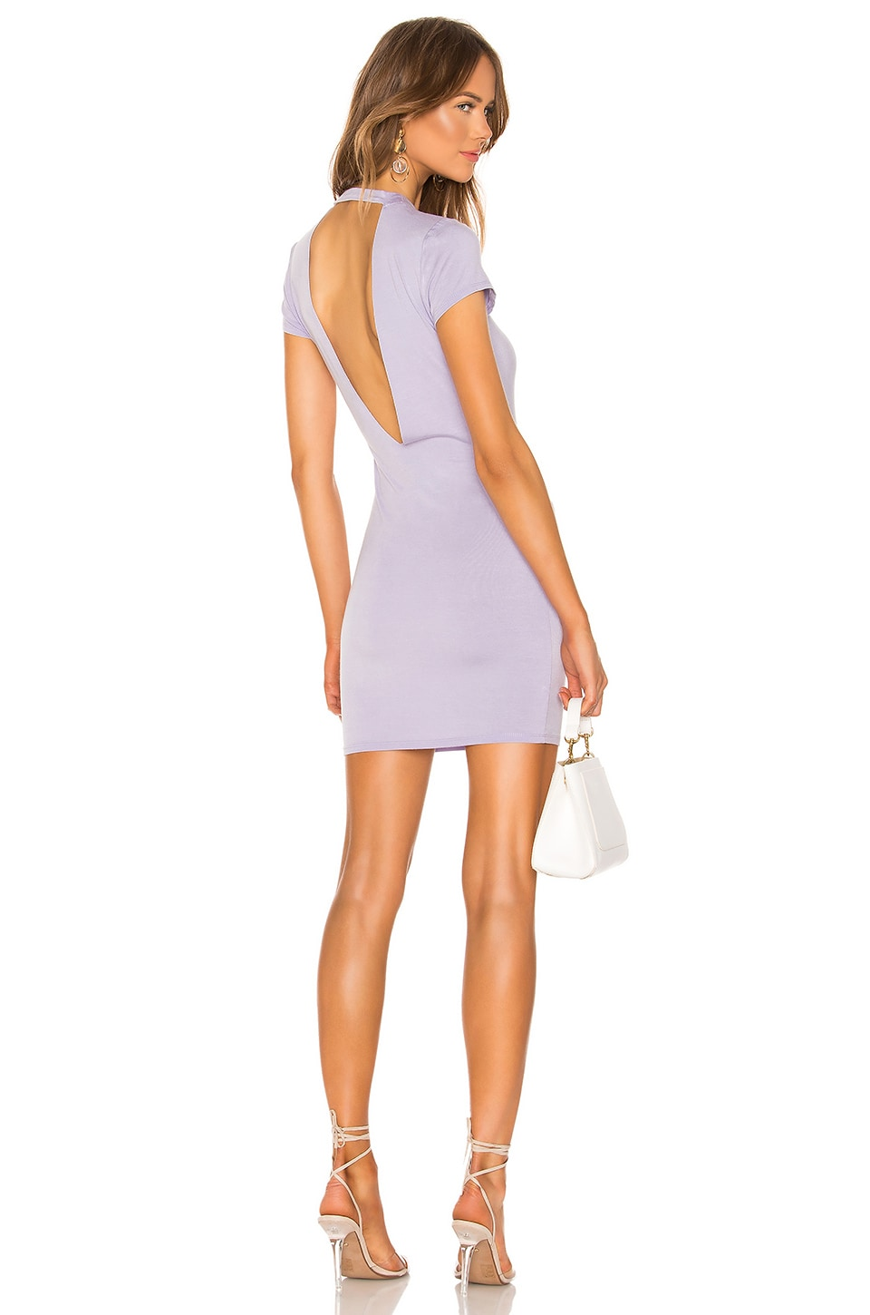 superdown Terra Tee Dress in Lilac