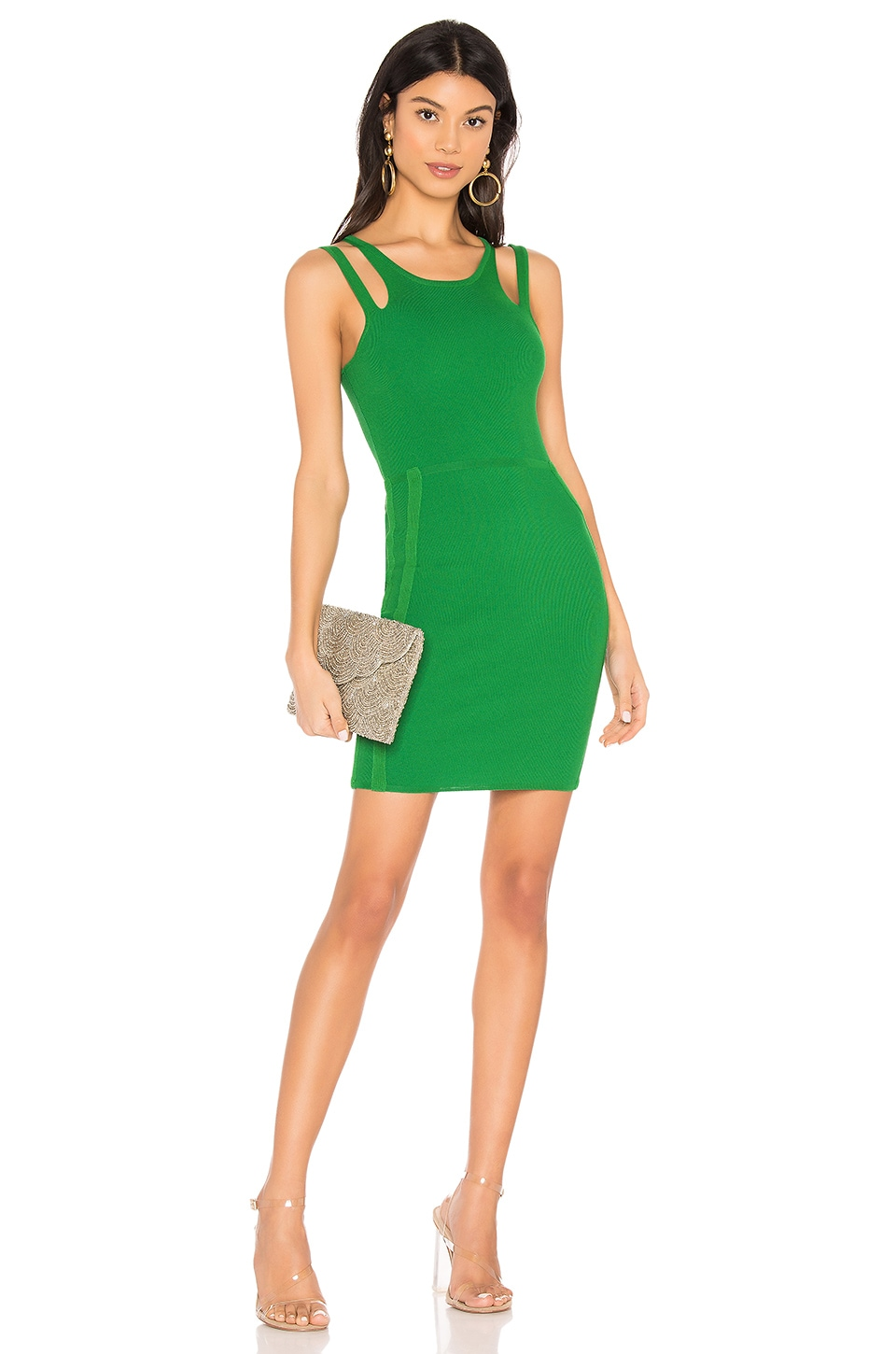 superdown Briela Cut Out Dress in Green