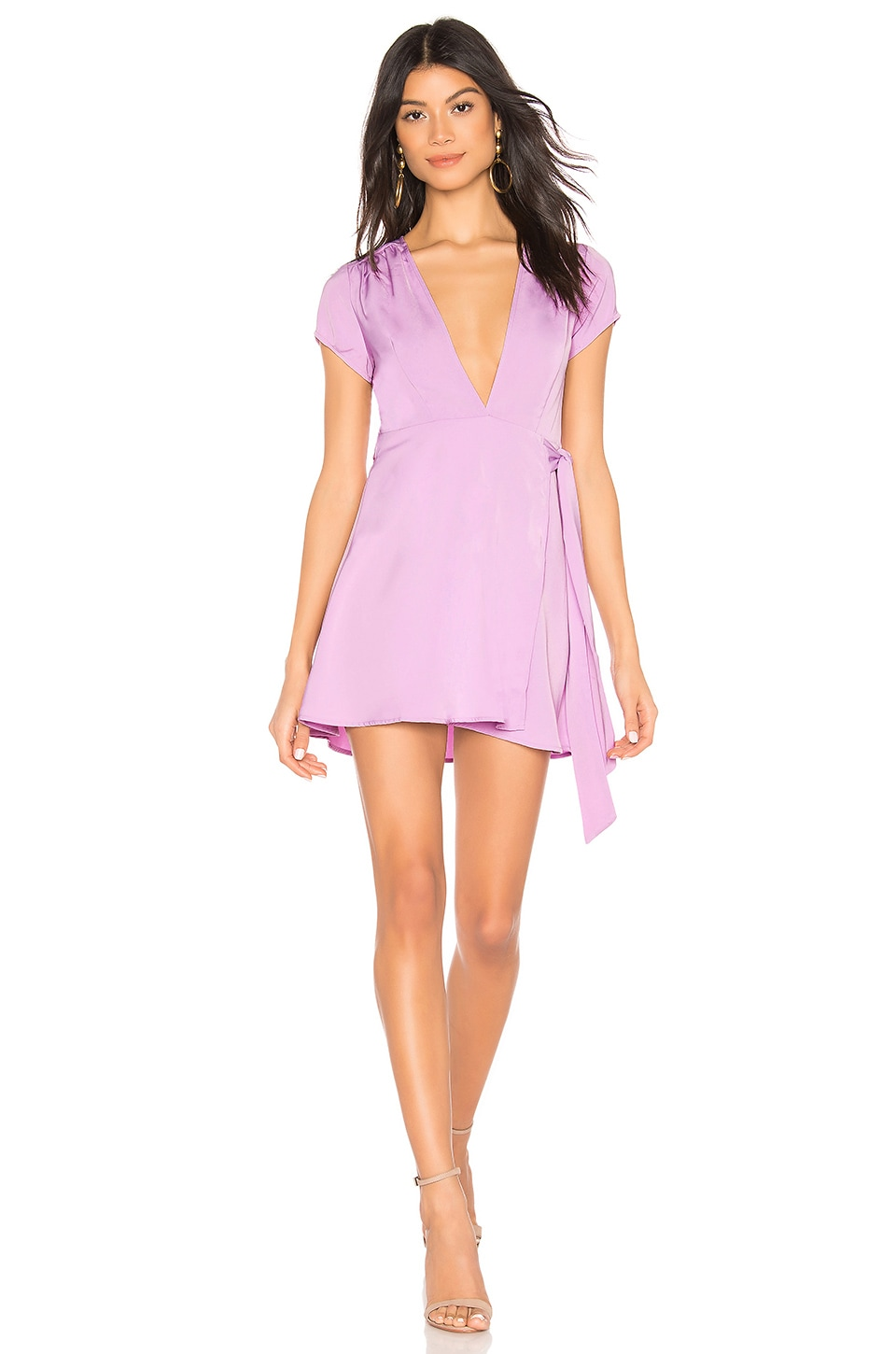 superdown Kaia Wrap Dress in Lavender