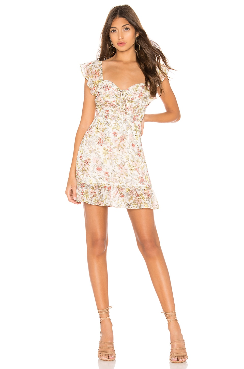 superdown Kristyn Mini Dress in White Floral