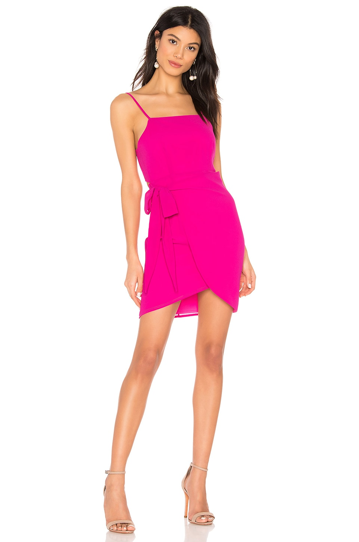 superdown Morgan Layered Mini Dress in Cherry Red