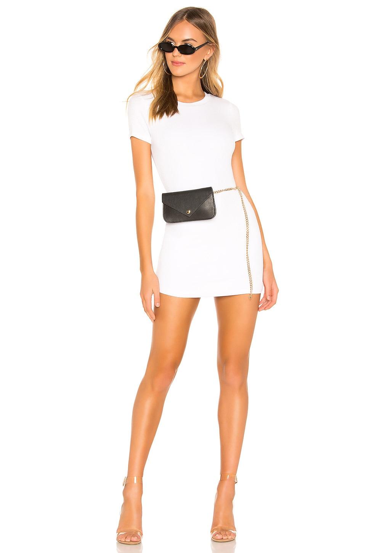 superdown Bridget Curved Hem Dress in White