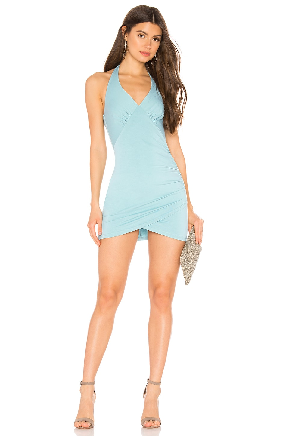 superdown Ayana Ruched Mini Dress in Seafoam