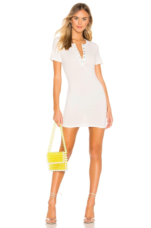 superdown Nicki Ribbed Mini Dress in White