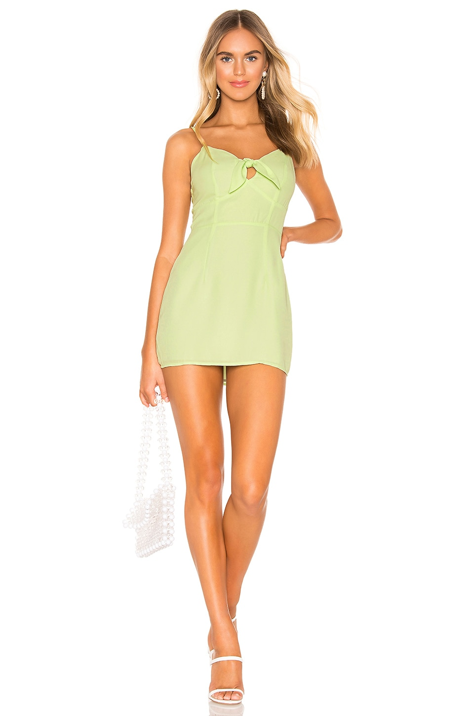superdown Montana Tie Front Dress in Key Lime Green