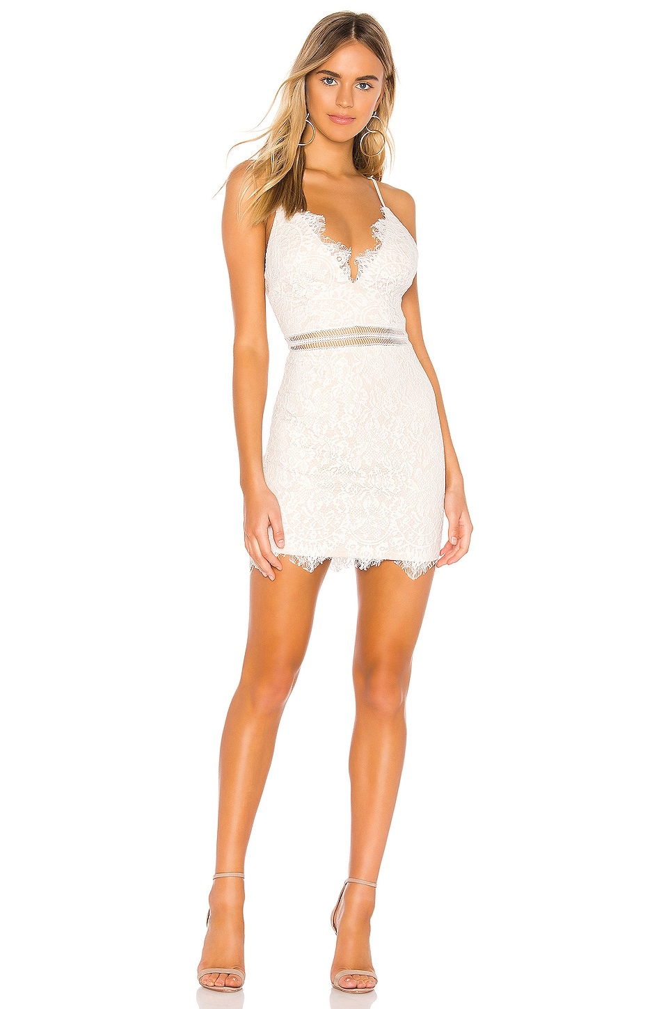 superdown Remi Lace Mini Dress in White