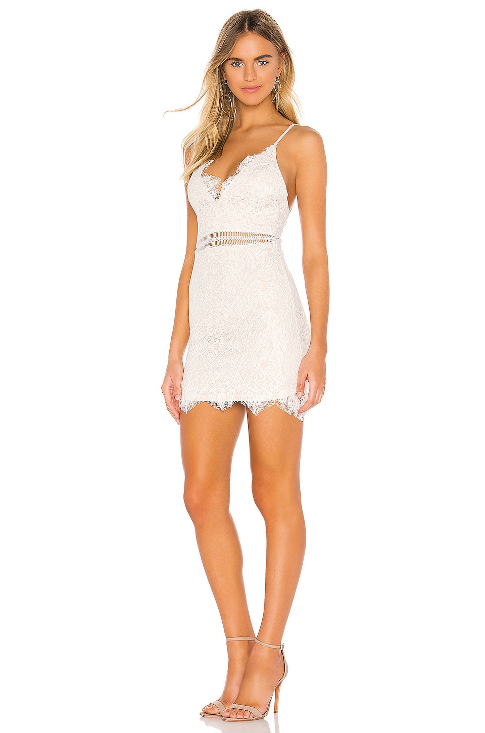 Remi Lace Mini Dress, view 2, click to view large image.