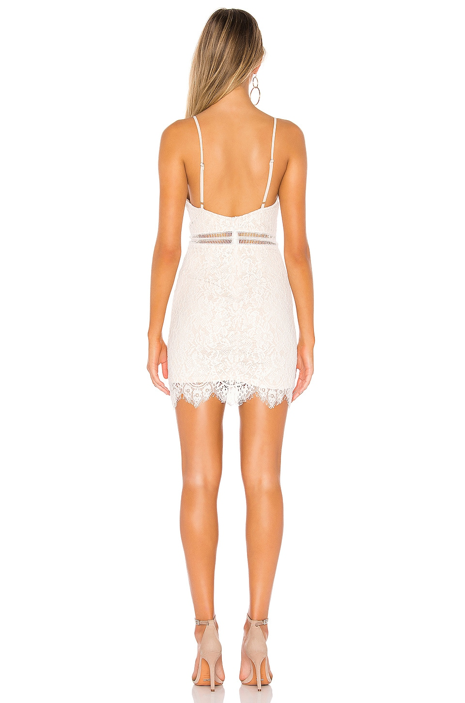Remi Lace Mini Dress, view 3, click to view large image.