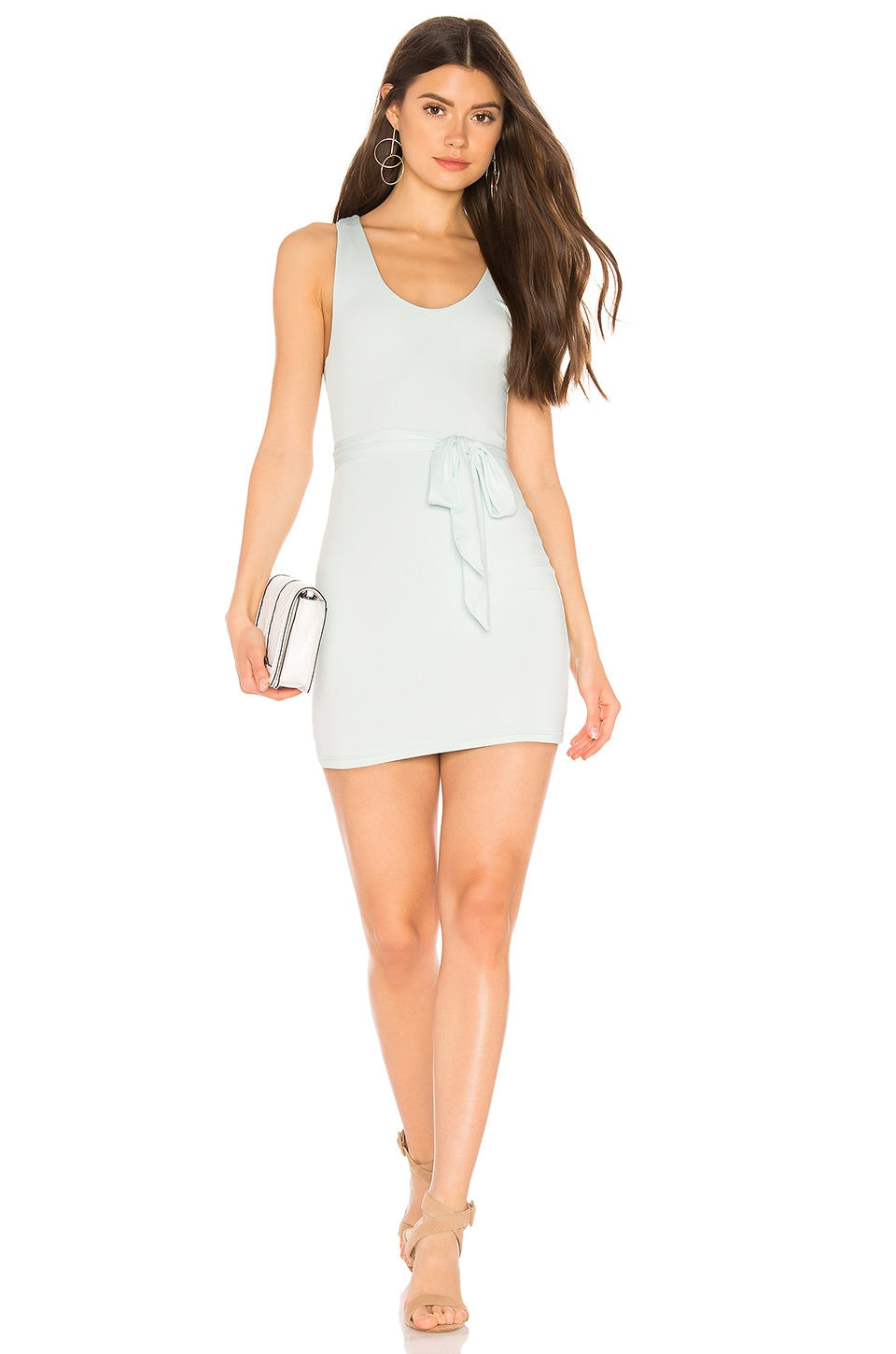 superdown Heron Belted Mini Dress in Light Blue