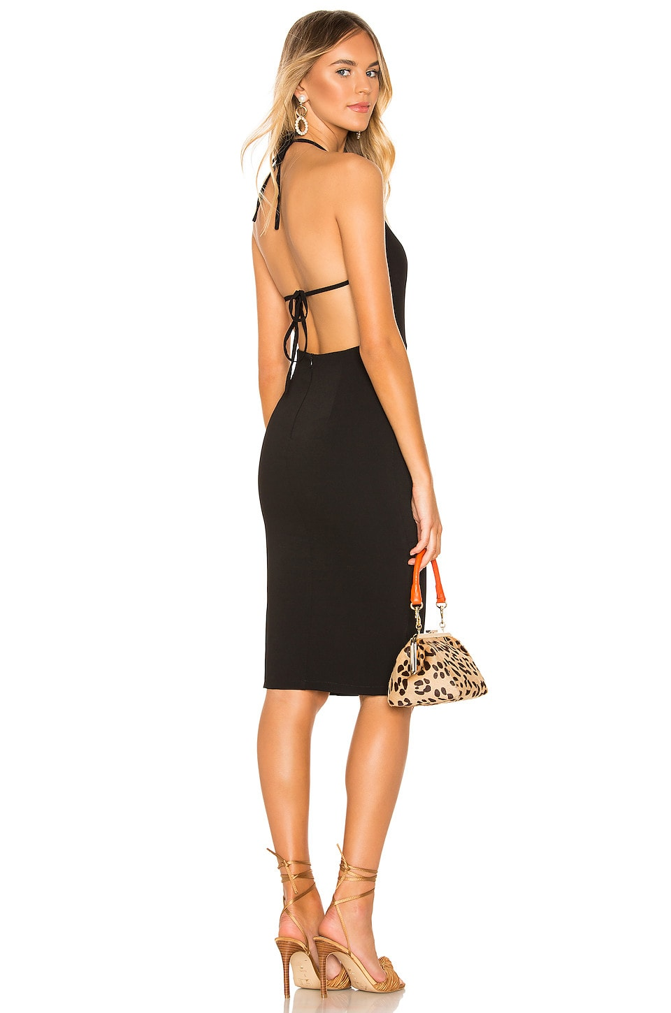 superdown Tru Midi Dress in Black