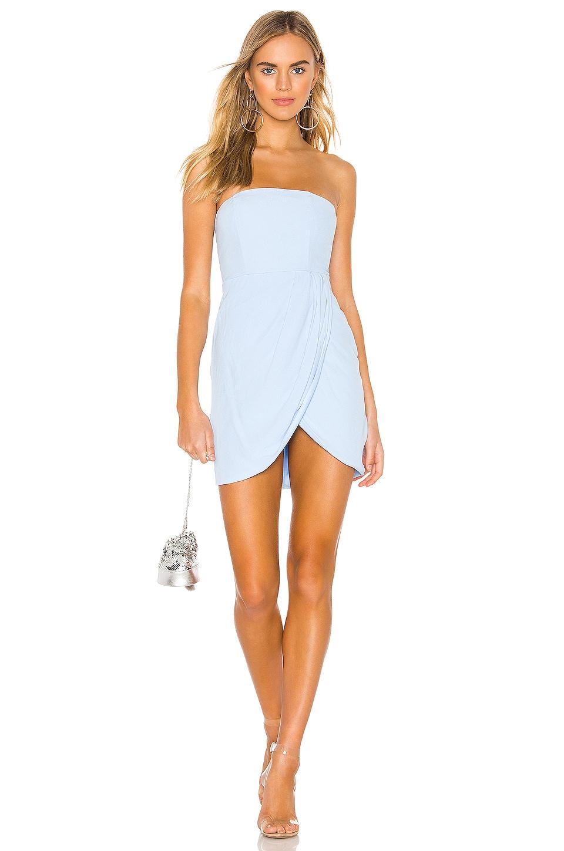 superdown Rosalyn Tulip Dress in Light Blue