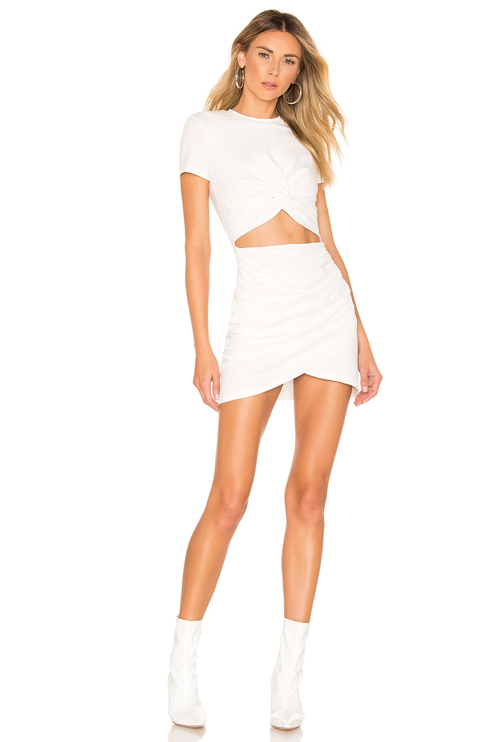 superdown Maureen Jersey Mini Dress in White