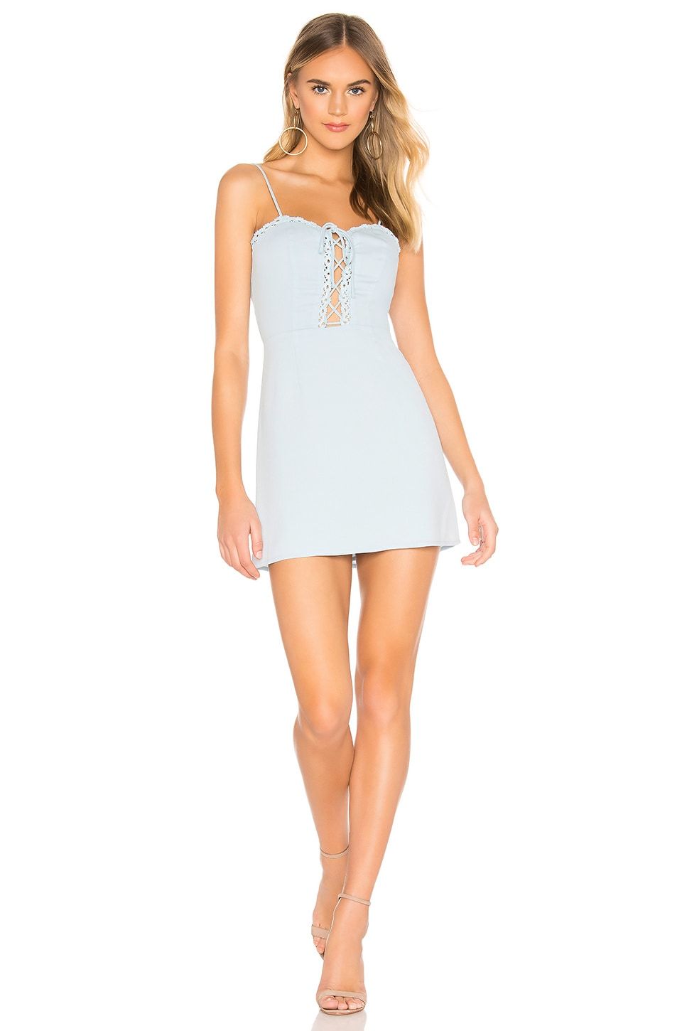 superdown Penny A Line Dress in Baby Blue