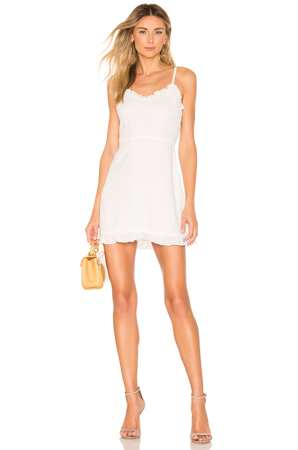 superdown Charlee Frill Cami Dress in White