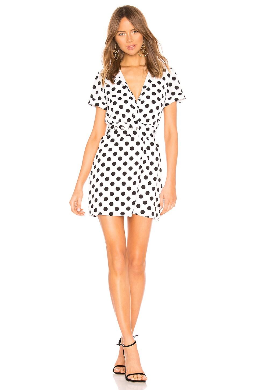 superdown Paula Button Up Dress in Black & White