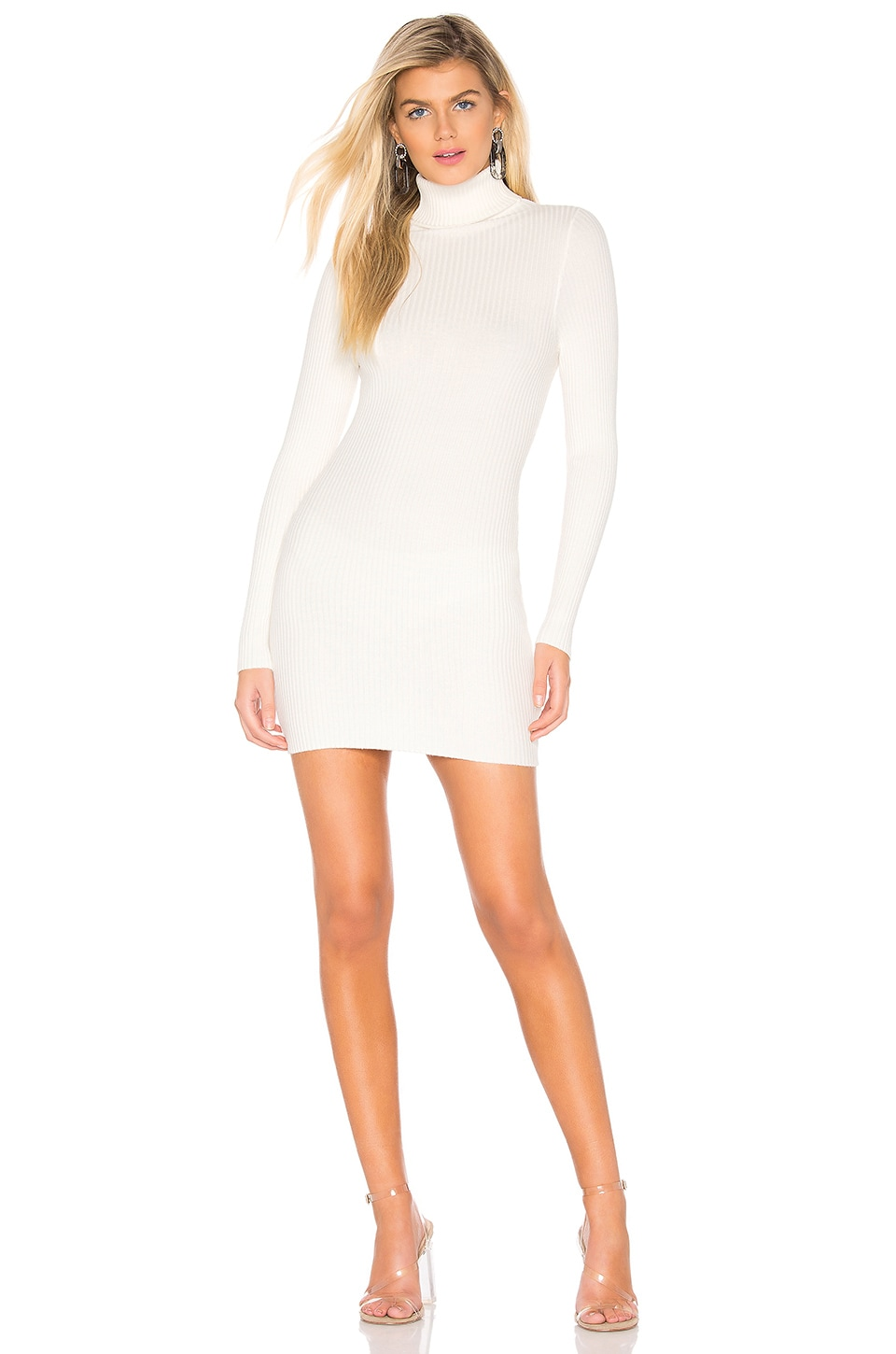 superdown Meagan Turtle Neck Dress in Ivory