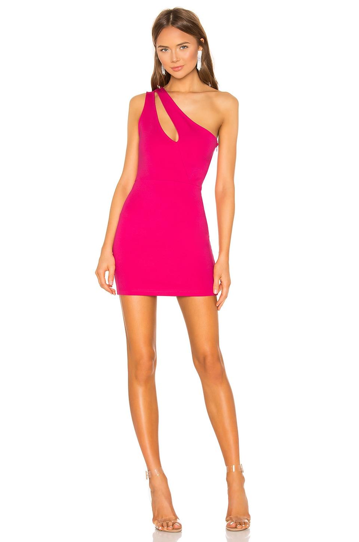 423739e30ba0 superdown Nava Asymmetrical Mini Dress in Hot Pink | REVOLVE