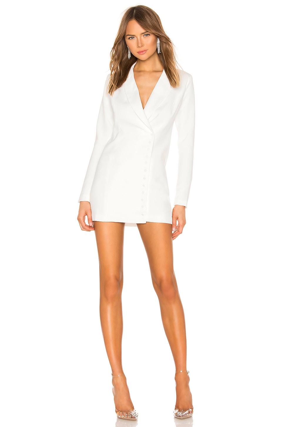 superdown Armida Button Blazer Dress in Ivory