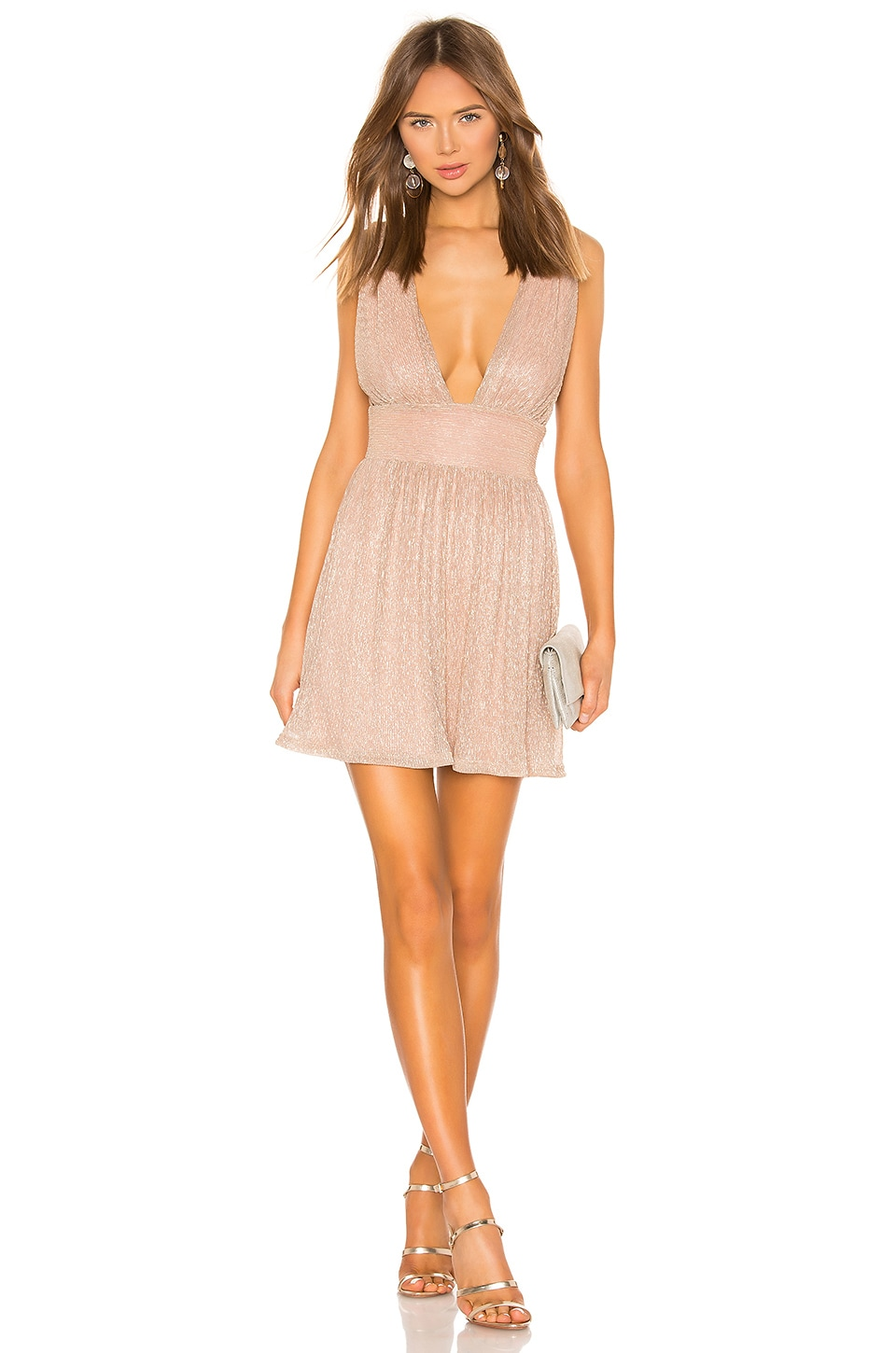 superdown Elena Mini Dress in Rose Gold