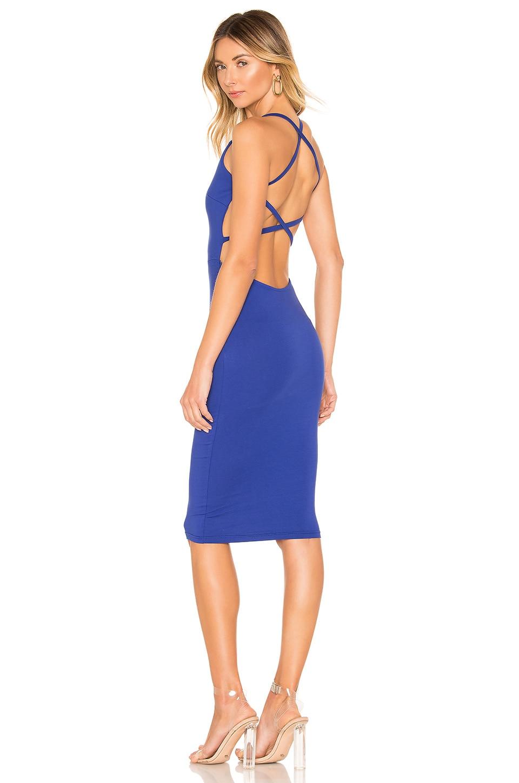 superdown Reigh Strappy Midi Dress in Cobalt