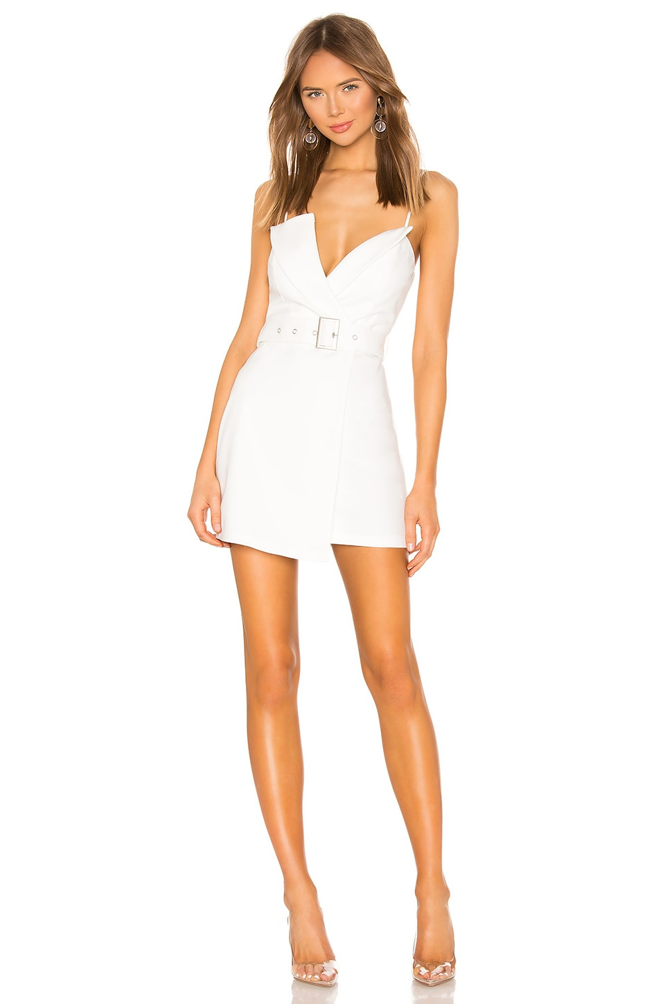 superdown Kasey Belted Blazer Dress in White