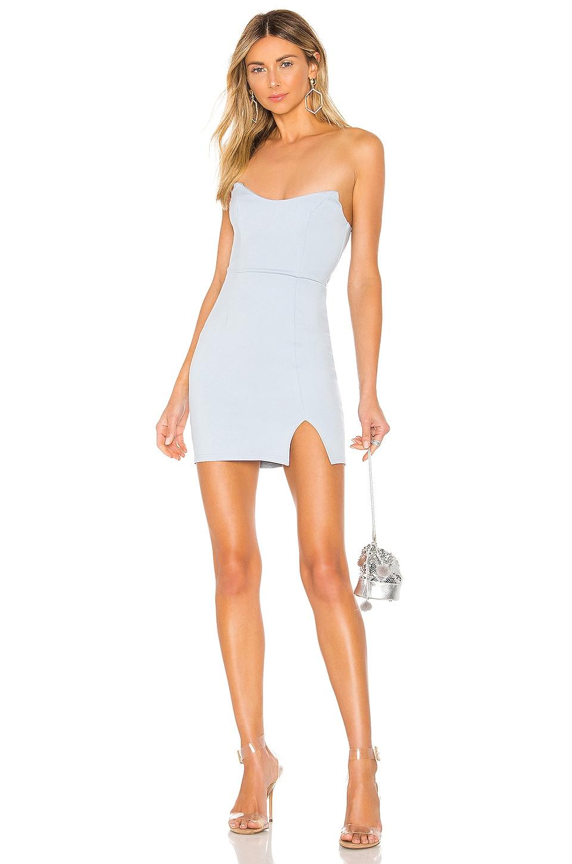 superdown Zarah Slit Mini Dress in Light Blue