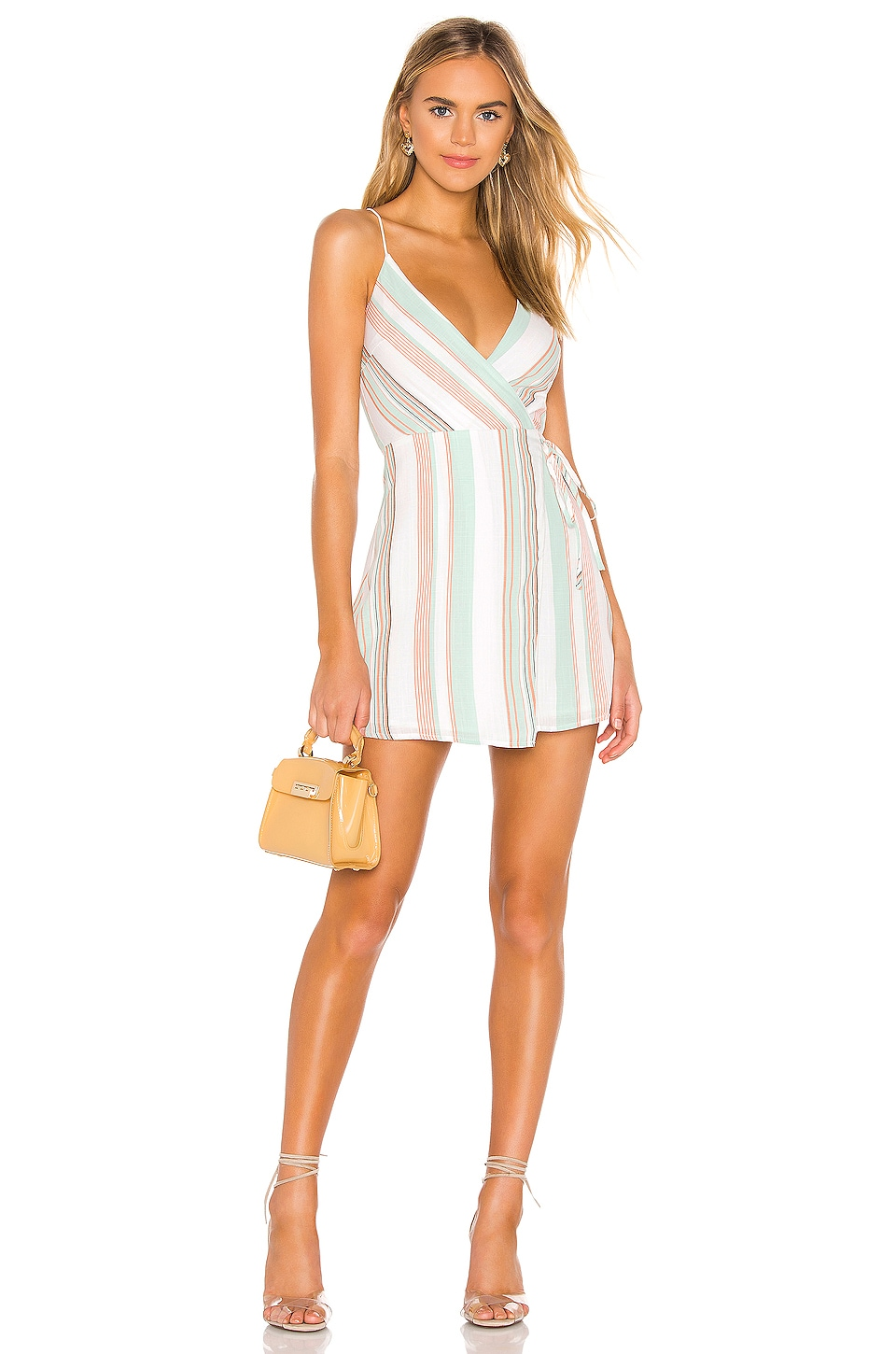 superdown Daniela Wrap Dress in Stripe