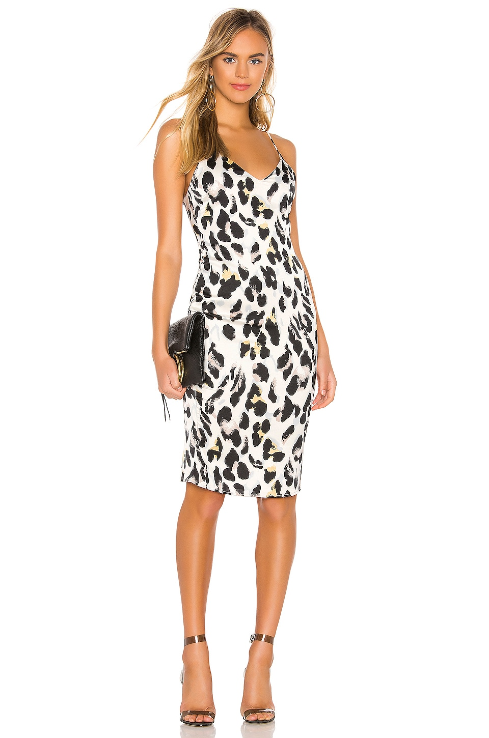 superdown Fierra Midi Dress in Leopard