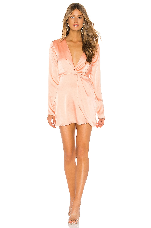 superdown Armelle Wrap Dress in Peach