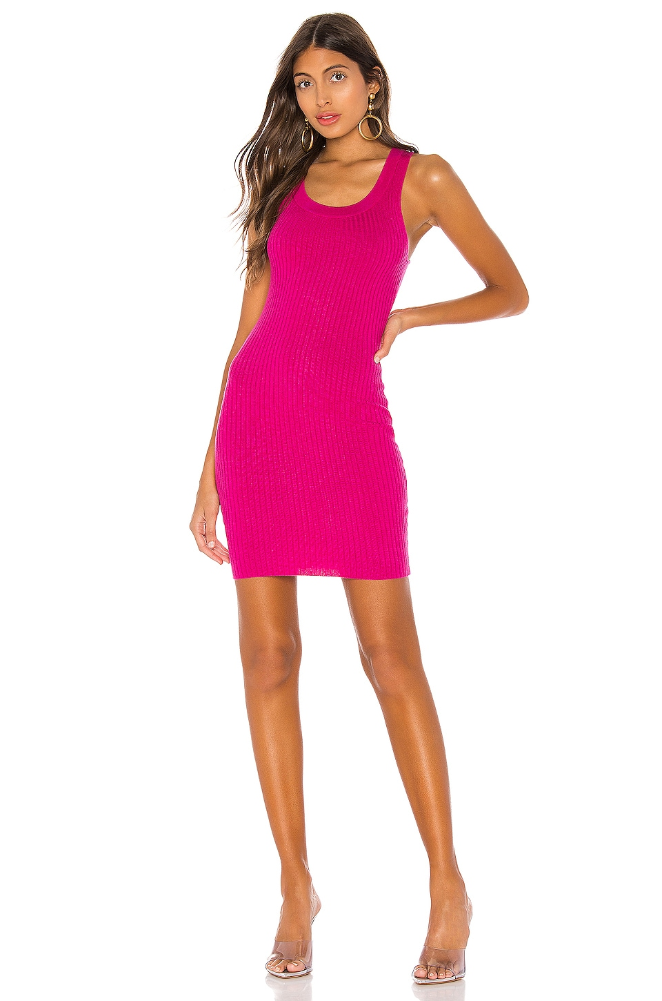 superdown Nico Knit Mini Dress in Hot Pink