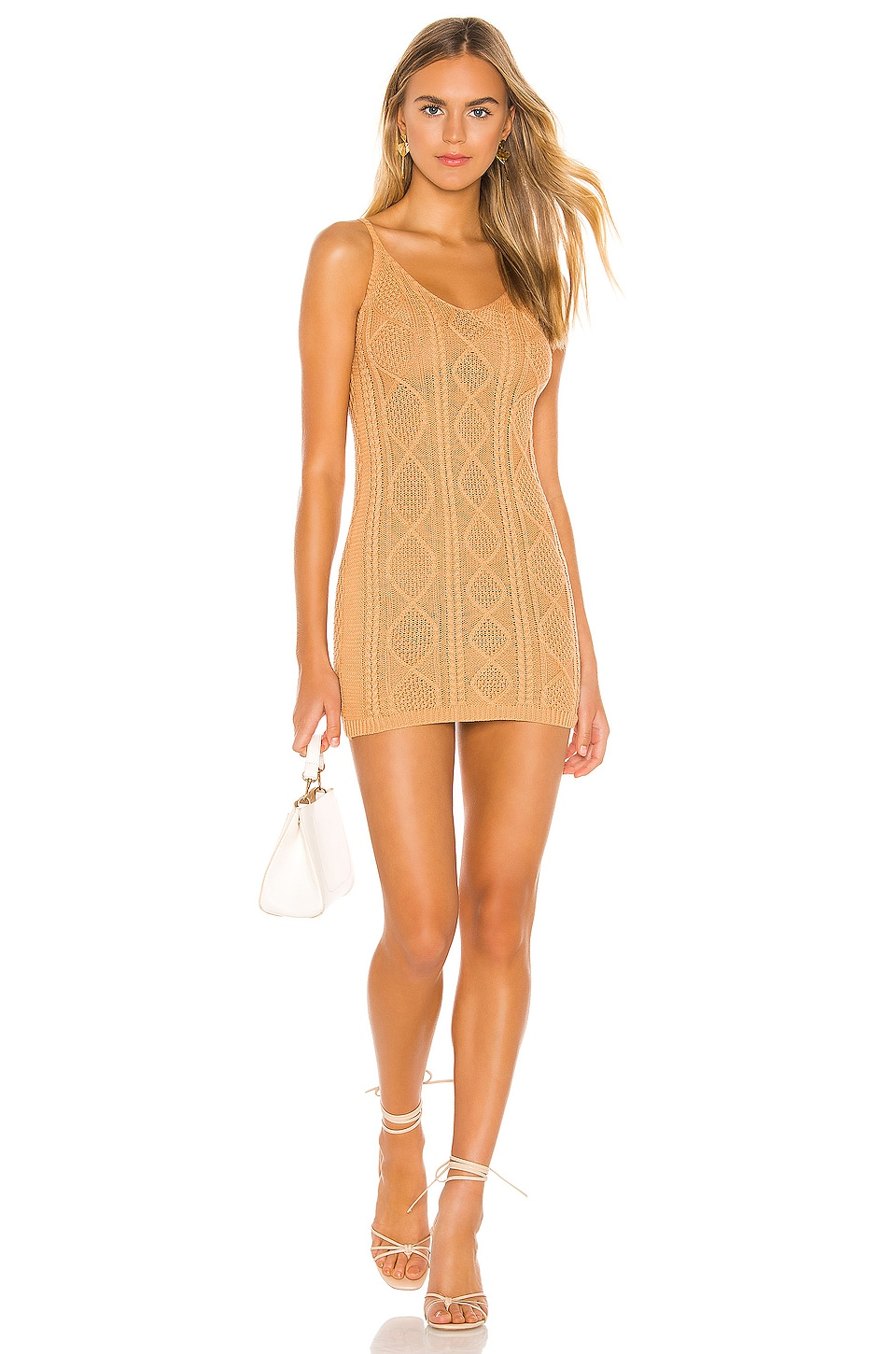 superdown Lexi Sweater Tank Dress in Camel