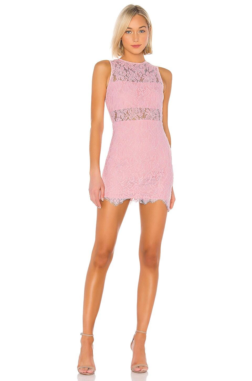 superdown Suri Sleeveless Mini Dress in Pink in Blush