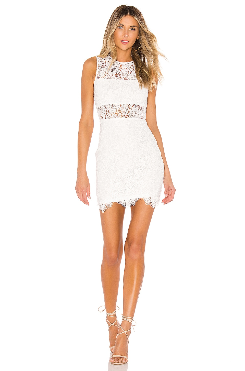 superdown Suri Sleeveless Mini Dress in White