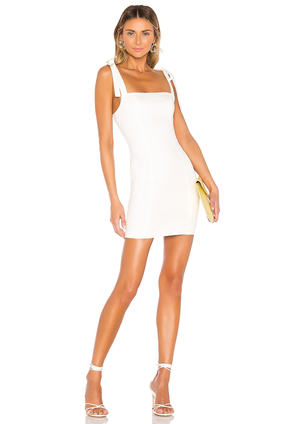 superdown Siona Tie Strap Dress in White