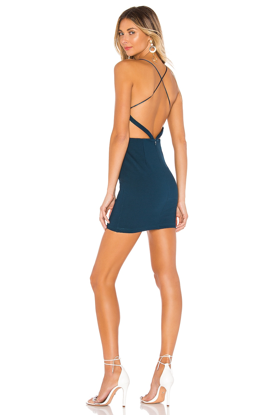 superdown Colby Strappy Back Dress in Teal