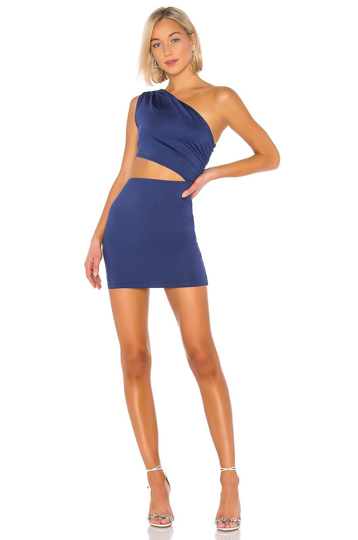 superdown Eliza Cut Out Dress in Navy
