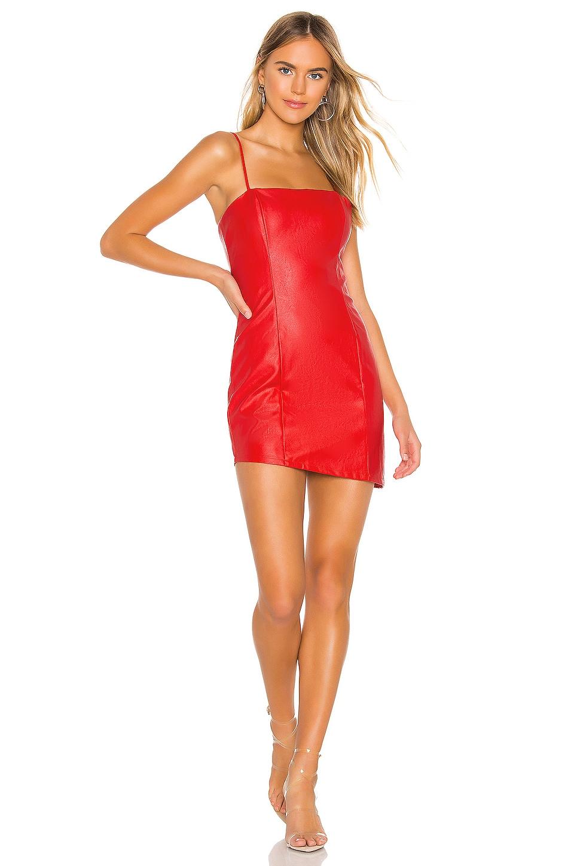 superdown Maritza Asymmetrical Dress in Red