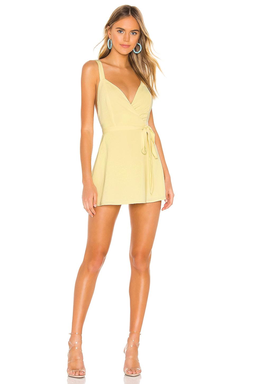 superdown Sonya Flare Dress in Yellow
