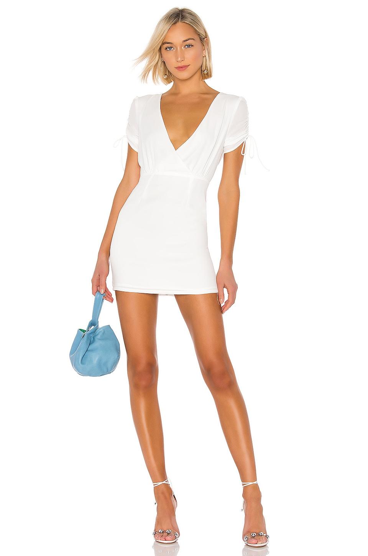 superdown Selma Keyhole Mini Dress in White