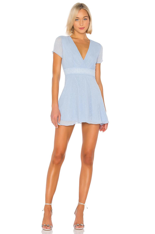superdown Bree Mini Dress in Light Blue