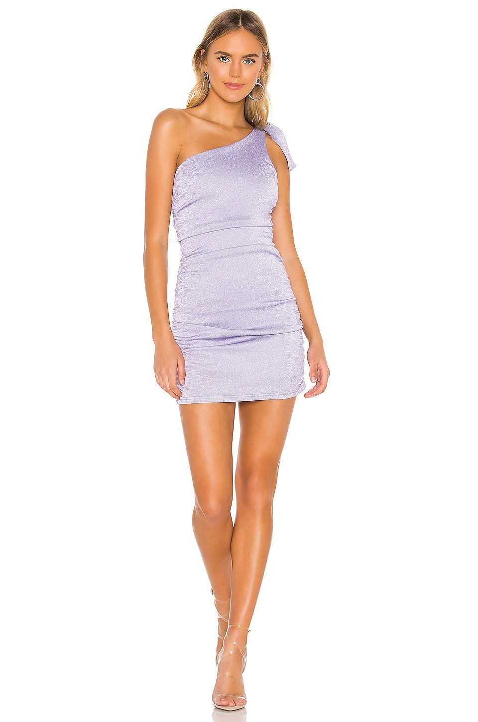 superdown Raelyn Bow Tie Dress in Lavender